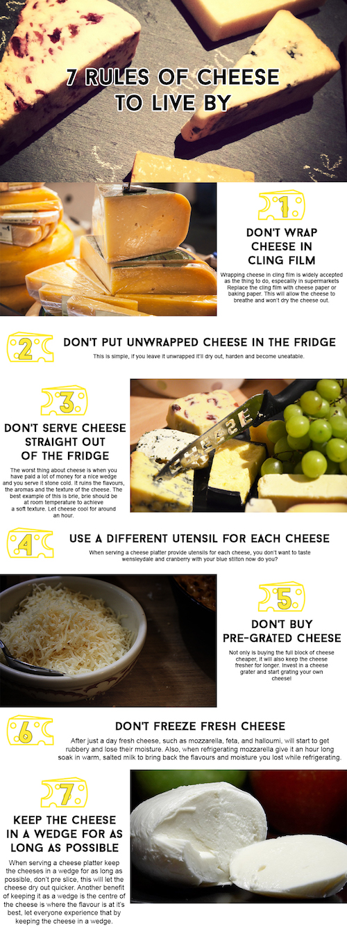 7 rules of cheese to live by